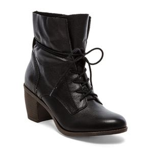 Steve Madden Gretchun Boot in Black Leather